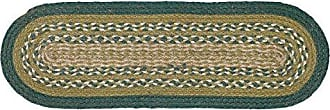VHC Brands Rustic & Lodge Flooring - Sherwood Green Oval Jute Stair Tread