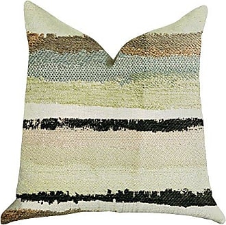 Plutus Brands Lime Stone River Sand Double Sided King Luxury Throw Pillow 20 x 36 Brown/Green/Blue