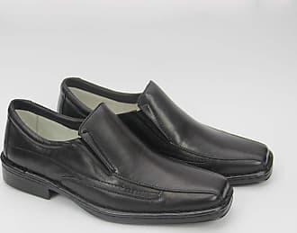 Generico Sapato social masculino, semi-ortopédico em legitimo couro mestiço(pelica), sola antistress modelo FM1502 (40, FM1502 Mestiço Preto)