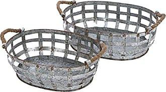 UMA Enterprises Inc. Deco 79 Metal Galvanized Tray, 20 by 18-Inch