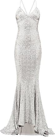 Norma Kamali Fishtail-hem Sequinned Maxi Dress - Womens - Silver