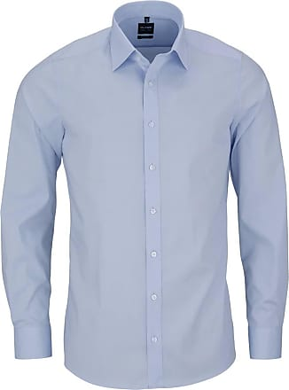 Olymp Level Five Body Fit Plain Light Blue Shirt 17 (43cm) Light Blue