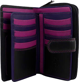Visconti Quality Classic Ladies Soft Leather Purse Wallet by Visconti Designer Black Berry Boxed