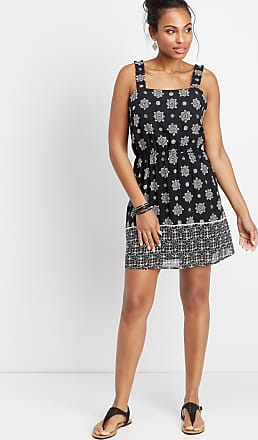 Maurices Border Print Ruffle Strap Dress