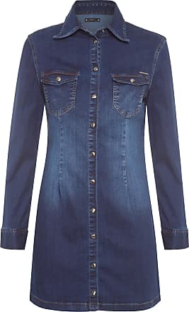 Colcci Vestido Curto Jeans Por Marina Ruy Barbosa - Azul