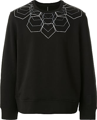 Blackbarrett Moletom com estampa geométrica - Preto