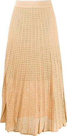 Sandro embroidered flared midi skirt - GOLD