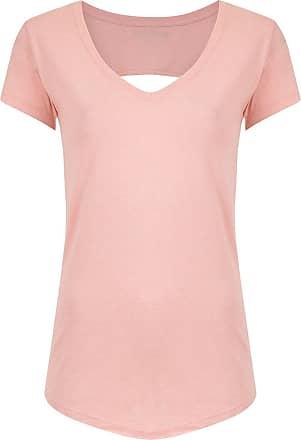 Track & Field Camiseta decote V Tecnologia Performance - MESCLA ROSE