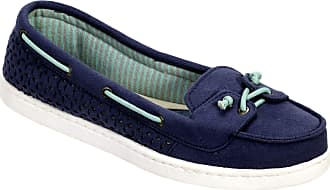 Dearfoams Womens StepOut Moccasin Slippers (Indigo, 4.5)