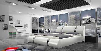 Stylefy Elbrus Polsterbett Weiß 160x200