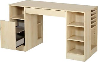 South Shore Furniture Craft Table with Open and Closed Storage, Natural Maple