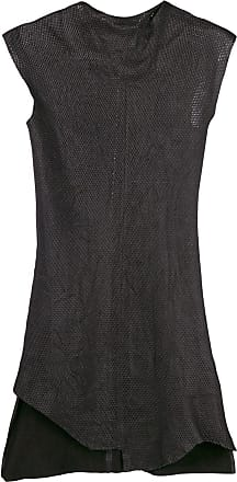 Olsthoorn Vanderwilt Vestido assimétrico de couro vegetal - Preto