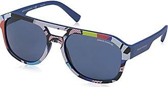 A|X Armani Exchange Armani Exchange Mens 0ax4074s Rectangular Sunglasses, matte blue, 57.0 mm