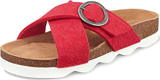 Shepherd Sandals Marianne in felted wool Shepherd red