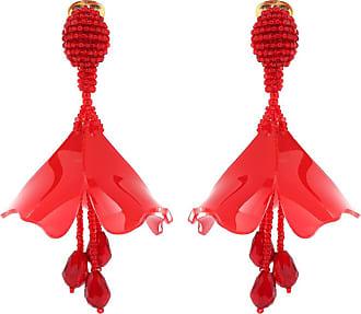 Oscar De La Renta Impatiens Mini clip-on earrings
