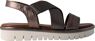 Inuovo 109004 - Womens Leather Steel Sandal Grey Size: 8.5 UK
