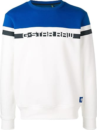 G-Star Raw Research logo two tone sweater - White