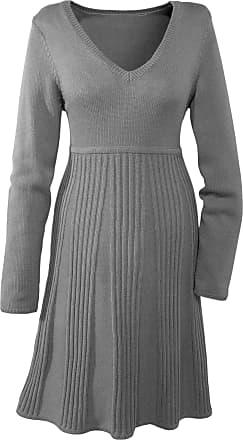 ad87d0ab73bf Bodyflirt Dam Stickad klänning i grå lång ärm - BODYFLIRT