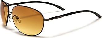X Loop New X-Loop High Definition Lens lenses Unisex Sunglasses UV400 Protection Aviator Style (bronze frame HD brown lens)