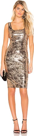 Bardot Neve Dress in Metallic Gold