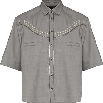 Nulabel Camisa western com tachas - Cinza