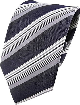 TigerTie silk tie anthracite silver gray striped - tie necktie silk