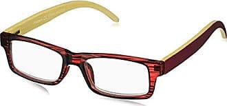 Peepers Unisex-Adult Sierra 2365125 Rectangular Reading Glasses, Burgundy, 1.25