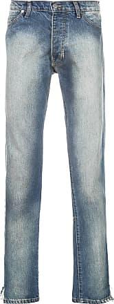Rhude Calça jeans com efeito desbotado - Azul