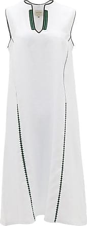 Zeus + Dione Tinos Embroidered Linen Dress - Womens - White