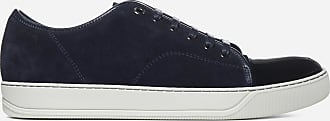 Lanvin Patent leather toe-cap suede sneakers - LANVIN PARIS - man