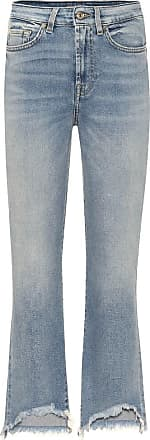 7 For All Mankind High-rise cropped bootcut jeans