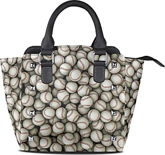 NaiiaN Leather Funny Sport Baseballs Shoulder Bags Light Weight Strap Handbags for Women Girls Ladies Student Purse Shopping City Tote Bag