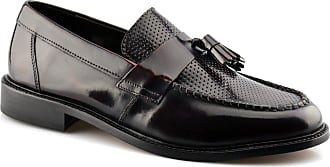 Ikon Mens Original Leather Sole Tassel Loafers Slip On Formal Shoes Size - Bordo - UK 11