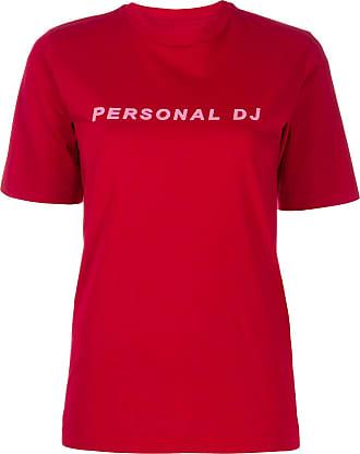 Kirin Camiseta Personal DJ decote careca - Vermelho