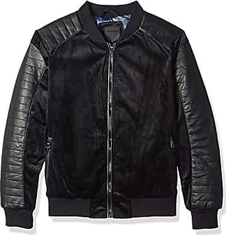 Urban Republic Mens Woven Velvet Jacket, Black, M