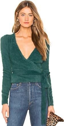 Majorelle London Coco Wrap Sweater in Green