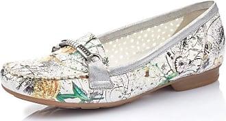 Rieker Women Loafer Flats 40055, Ladies Slipper,Slip Half Shoe,Slip-on,Leisure Shoe,Open Slip-in,ice-Multi,40 EU / 6,5 UK