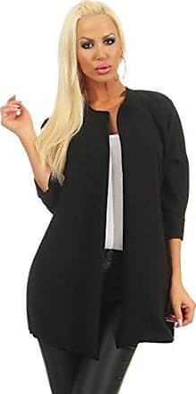 Damen Strick Schulterjacke Cardigan Bolero Jacke Pulli Party Club Büro 34 36 38