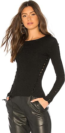 Generation Love Kristen Lace Up Sweater in Black