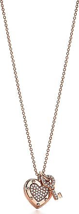 Tiffany & Co. Return to Tiffany Love heart tag key pendant in 18k rose gold with diamonds