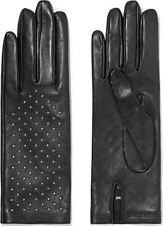 Saint Laurent Studded Leather Gloves - Black