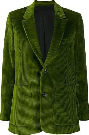 Ami Blazer com abotoamento simples de veludo cotelê - Verde