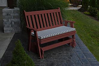 A & L Furniture A & L Furniture 870-CW Cherry Wood Poly Traditional English Glider Bench