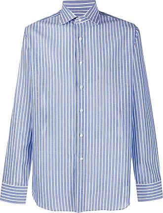 Canali Camisa com estampa de listras - Azul