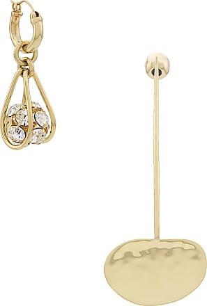 Ellery asymmetric drop disc earring - Dourado