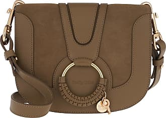 See By Chloé Cross Body Bags - Hana Crossbody Suede Smooth Dark Khaki - green - Cross Body Bags for ladies