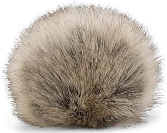 styleBREAKER Faux Fur Pompom for Hats and Beanies, Fake Fur, Winter Fur Bobble 04024161, Color:Beige-Grey