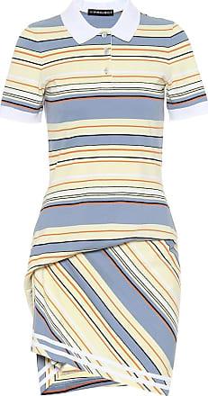 Y / Project Striped cotton piqué dress