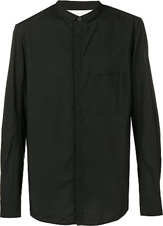 Ziggy Chen collarless shirt - Black