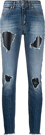 John Richmond Calça jeans Terrero com detalhes rasgados - Azul